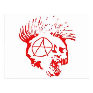Crânio do Mohawk da anarquia Cartão Postal