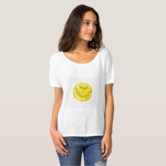 Crânio do smiley face tshirts