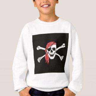 Crânio e bandeira de pirata cruzada dos ossos tshirts