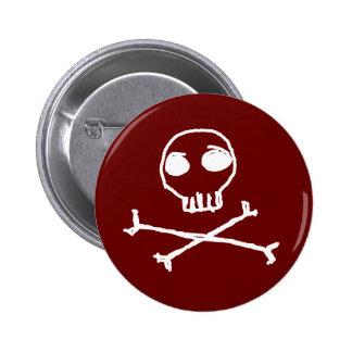 Crânio e botão dos Crossbones Boton