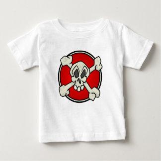 Crânio e camisa dos Crossbones para bebês