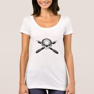 Crânio e ferros tshirts