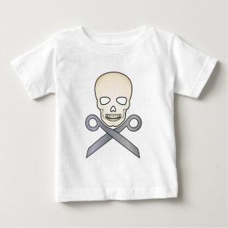 Crânio e X-Tesouras Tshirts