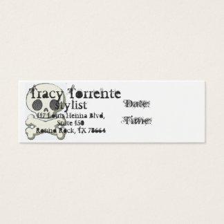 crânio e xbones, Tracy T, chiqueiro… Cartão De Visitas Mini