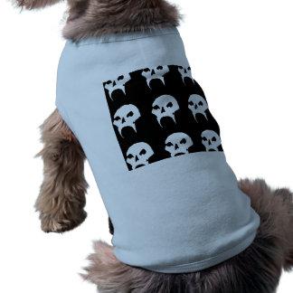 Crânio estranho camisa sem mangas para cachorro
