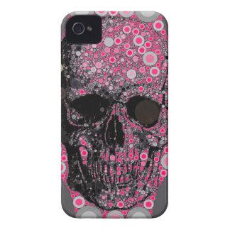 Crânio feminino Trippy das capas de iphone Capa iPhone 4 Case-Mate