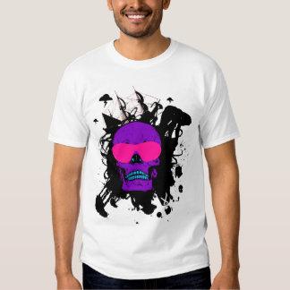 Crânio Funky Camiseta