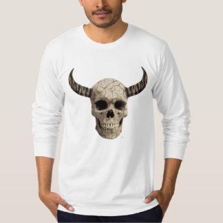 Crânio Horned Camisetas