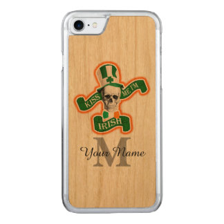 Crânio irlandês engraçado monogrammed capa para iPhone 7 carved