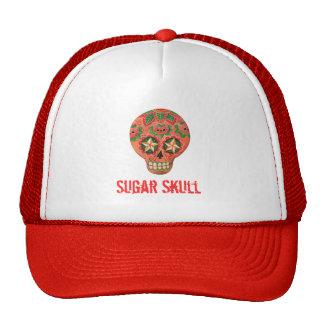 Crânio mexicano vermelho do açúcar boné