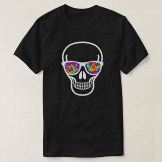 crânio Psicótico-eyed do geek Tshirts