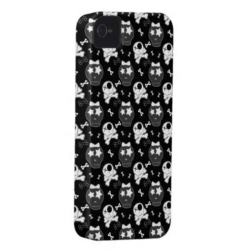 Crânios bonitos & caixa corajosa de Blackberry das Capas De iPhone 4 Case-Mate