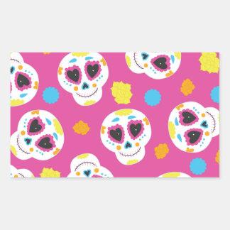 Crânios Colorido Diâmetro De Los Muertos Etiqueta