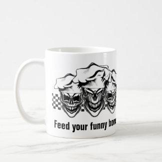 Crânios de riso do cozinheiro chefe caneca de café