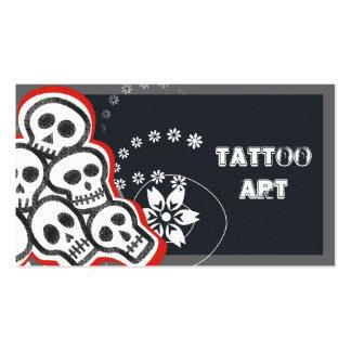 Crânios dos cartões de negócio da arte do tatuagem cartão de visita