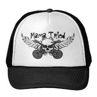 """Crânios e chapéu """"Mama Tentativa """" das guitarra Boné"""