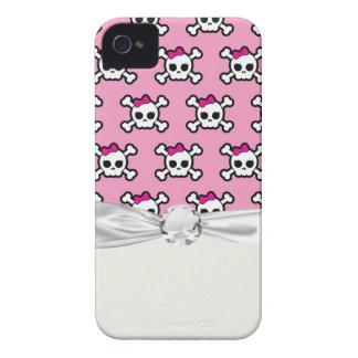 crânios femininos e teste padrão do punk dos capa para iPhone 4 Case-Mate