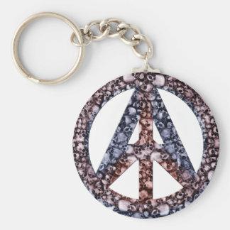 Crânios, paz & anarquia chaveiro
