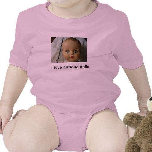 Creeper antigo do bebê da boneca camiseta