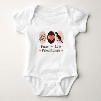 Creeper da criança da paleontologia do amor da paz t-shirt