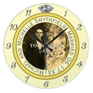 Creme da foto do aniversário da aliança de relógio grande