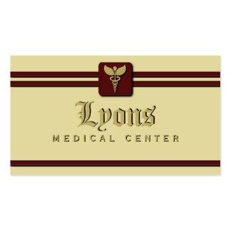 Creme e vermelho do médico cuidados médicos do cartão de visita