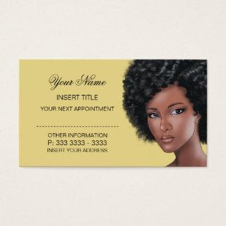 Creme - nomeação da beleza cartão de visitas