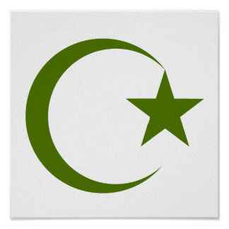 Crescente de Forest Green Star png Posters