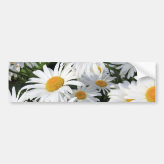 Crescimento de flores da margarida branco adesivo para carro