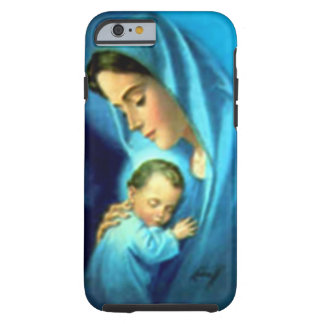 Criança abençoada Jesus da Virgem Maria e da Capa Tough Para iPhone 6