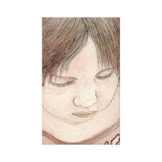 criança impressão em canvas