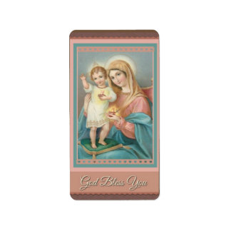 Criança católica Jesus da Virgem Maria Etiqueta De Endereço