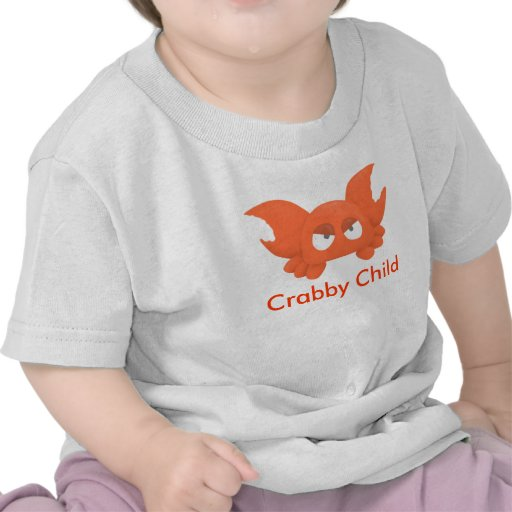 Criança Crabby da criança T T-shirt