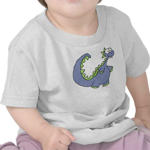 Criança & criança do dinossauro t-shirt