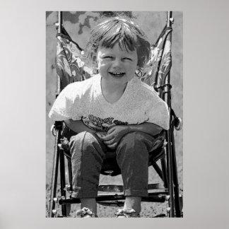 Criança da criança em um Pushchair (2) Poster