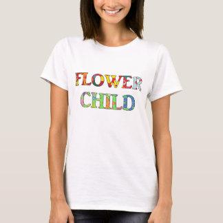 Criança de flor camiseta