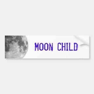 Criança de lua adesivo para carro