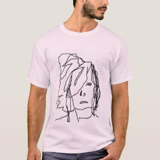criança de vista morose camiseta