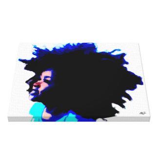 Criança do Afro Impressão Em Tela
