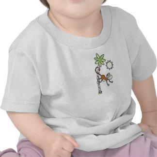 Criança do balanço do macaco & camisa da criança camiseta