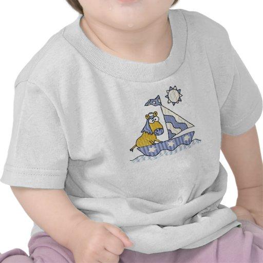 Criança do cavalo da navigação & camisa da criança camiseta