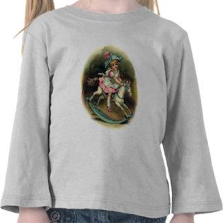 Criança do cavalo de balanço t-shirts