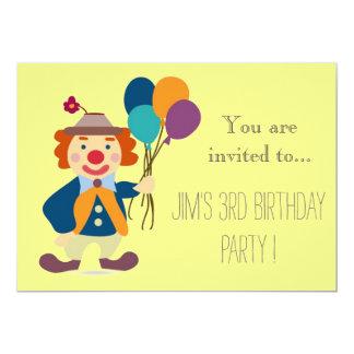 Criança do palhaço ou festa de aniversário da convite 12.7 x 17.78cm