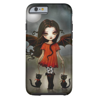 Criança do vampiro gótico do Dia das Bruxas com Capa Tough Para iPhone 6
