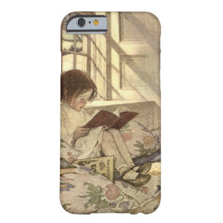 Criança do vintage que lê um livro, Jessie Willcox Capa Barely There Para iPhone 6