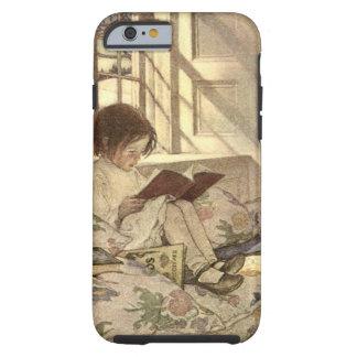 Criança do vintage que lê um livro, Jessie Willcox Capa Tough Para iPhone 6