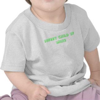 criança doce do sleepsuit da mina tshirts