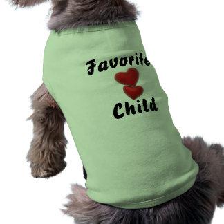 Criança favorita camisa sem mangas para cachorro