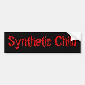 Criança sintética adesivo para carro