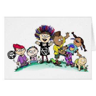 Crianças da diversidade! cartão comemorativo